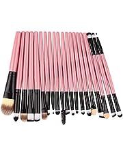 healthwen Professionella borstar med 20 stycken packar kompletta sminkborstar Set Kit professionell eller avslappnad personlig användning Rosa