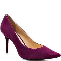 Guess Rolene 2 Suede Pump Dark Pink Women's 6.5 M US