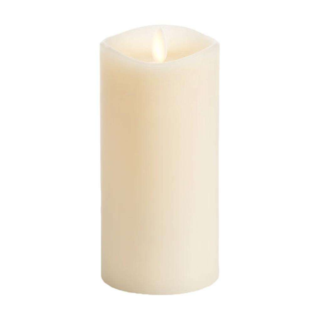 Luminara Flameless Candle: 360 Degree Top, Vanilla Scented Moving Flame Candle with Timer (6'' Ivory) by Luminara