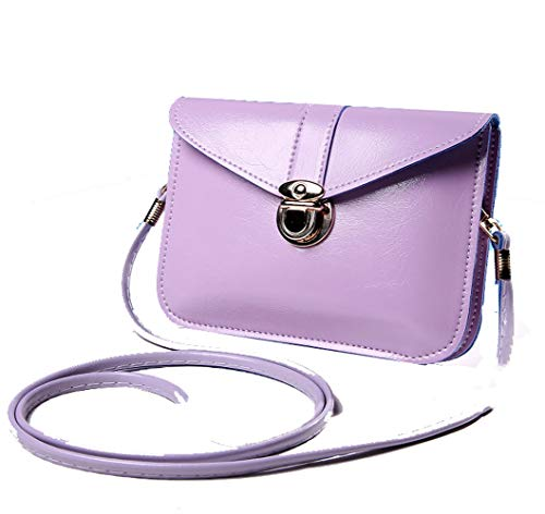 edfamily Women Girls Mini Handbags Leather Crossbody Single Shoulder Bag Cellphone Pouch Purse -