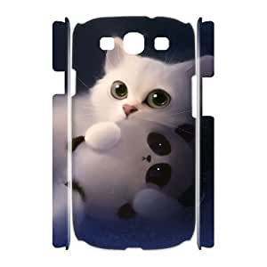 ALICASE Cover Case Lovely Cat 3D Diy For Samsung Galaxy S3 I9300 [Pattern-1]