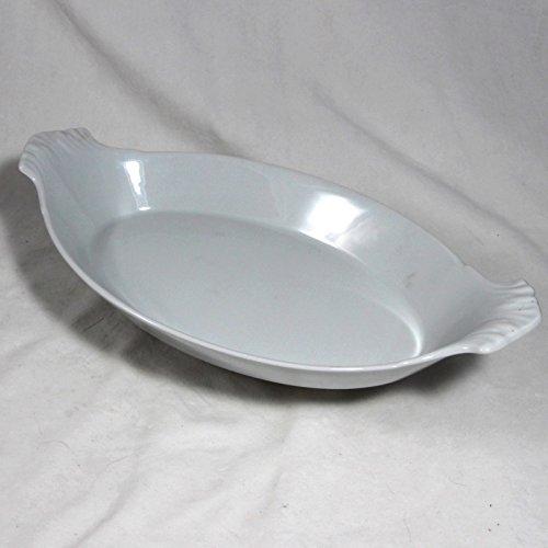 Apilco Porcelain Oval Au Gratin Baker, No. 12