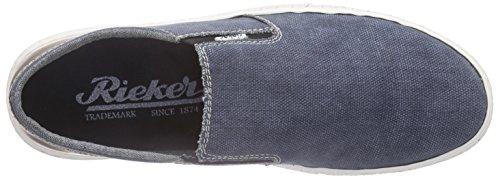 Rieker 19550 Loafers & Mocassins-men - Mocasines Hombre Azul - Blau (jeans/kastanie / 14)