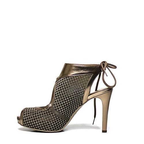 Para 37 De Vestir Zapatos Cuero Mujer Nero Beige Giardini WxwCnZ85F