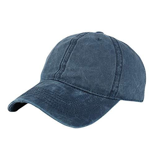 XOWRTE Unisex Women Men Adjustable Solid Baseball Hat Shade Cap ()
