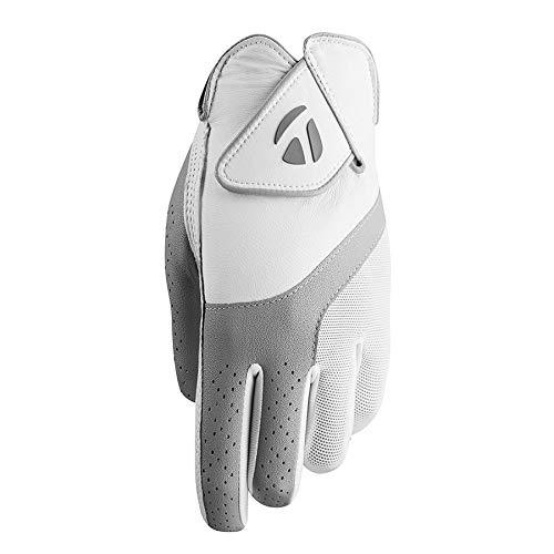 TaylorMade 2019 Kalea Women's Golf Glove, White/Gray, Worn on Left Hand, Medium ()