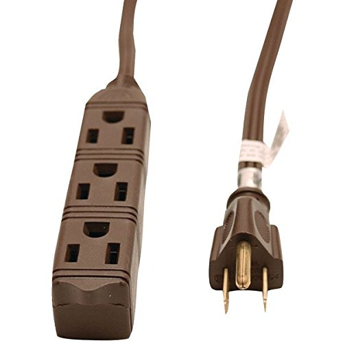 GE JASHEP50670 3-Outlet Grounded Office Cord - Brown
