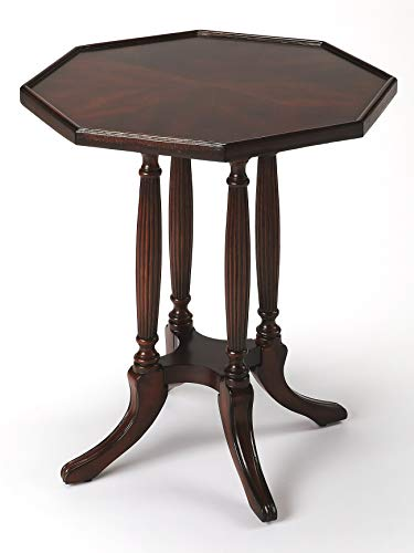 Kensington Row Furniture Collection End Tables - Marquis Octagonal Accent Table - Side Table - Plantation Cherry Finish ()