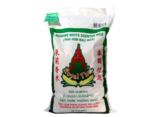 Royal Thai - Hom Mali Milagrosa Langkorn Jasmin Duft Thai Reis - Qualität AAA - 20kg Sack