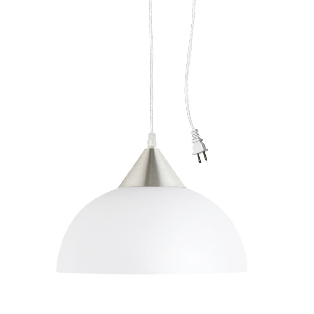Globe Electric 64413 Pendant Lighting 11 Inch White