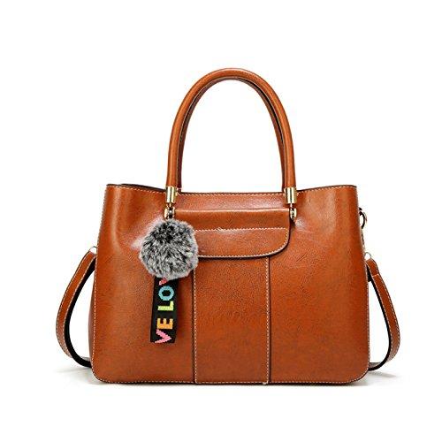Donna PU pelle a Messenger Marrone Nuovo semplice borse Bag Moda 2018 borsetta Tisdain tracolla gEwqZ4n