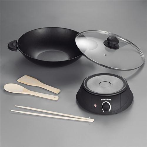 gourmets /& Woks /Fondues 1500/W, Black Severin WO 2442/3.6L/