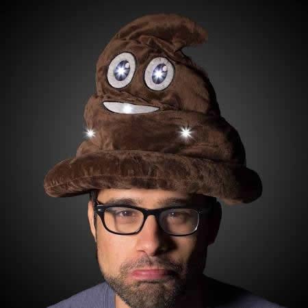 blinkee LED Poop Head Swirl Hat Brown