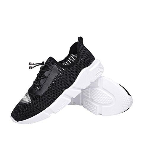 Sneakers Casual Mesh Traspirante Da Donna Scarpe Da Passeggio Di Carissimo Tempo Nero