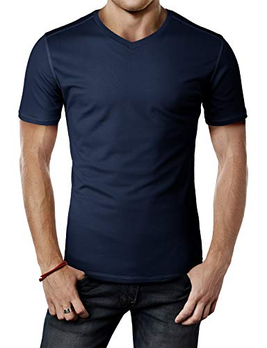 H2H Mens Active Slim Fit Cool Pass Cool Dry Fit Short Sleeve T-Shirts