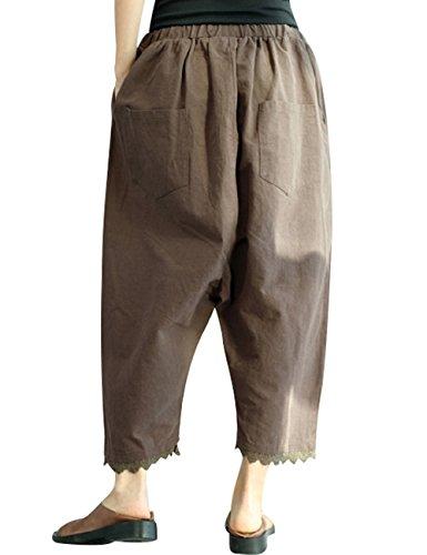 Style Jeans Taille Youlee Pantalon lastique Large 2 Femmes 6qYwvSwBU