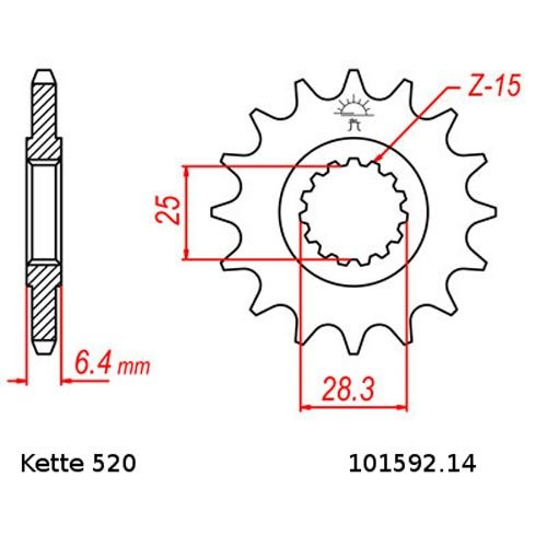 Kettensatz Yamaha YFM 700 R Raptor 06-17 offen 14//38 Kette RK BB 520 GXW 98 BLAU