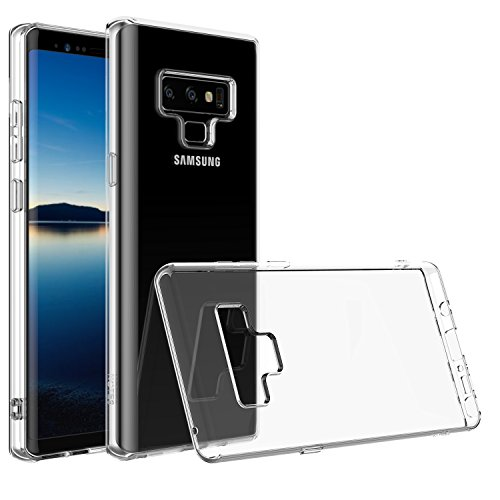Shamos Clear Galaxy Note 9 Case Shock Absorption Cover (Crystal Clear) TPU Rubber Gel [Anti Scratch] Transparent Note9