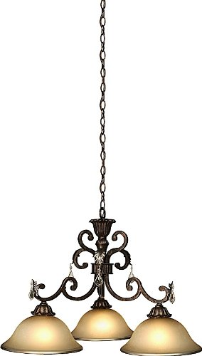 - Artcraft Lighting Florence 3-Light Traditional Chandelier, Rich Bronze