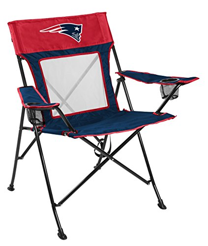 Rawlings NFL Game Changer Large Folding Tailgating and Camping Chair, with Carrying Case, New England Patriots