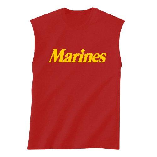 Marines Sleeveless (MARINES Sleeveless T-Shirt in red - X-Large)