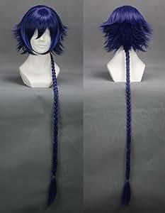 "36"" Dark Blue Cosplay Wig long braid -- Code Geass GAIDEN Hyuuga AKITO"