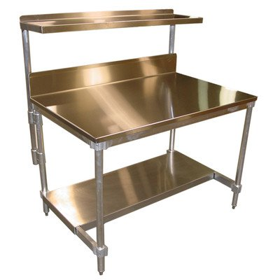 Stainless Steel 48 Inch Access - PVIFS AIFT303448-STBS Stainless Steel Top I-Frame Work Table with 6