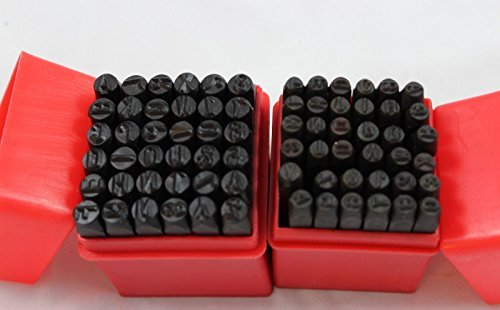 72 PC METAL NUMBER & LETTER STAMP PUNCH CASE 1/8'' & 1/4 by Drill Bits