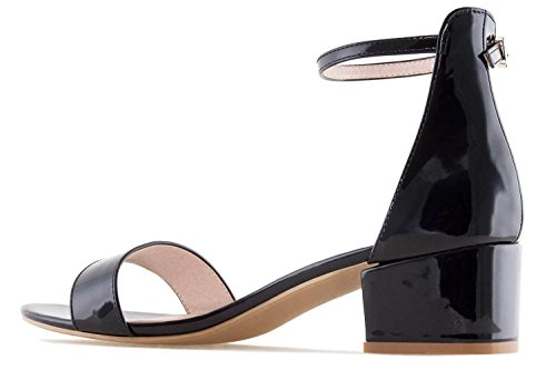 Andres Machado Women's Fashion Sandals Charol Negro YuBrzdQD5t