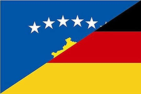 U24 Aufkleber Kosovo Deutschland Flagge Fahne 15 X 10 Cm Autoaufkleber Sticker Auto