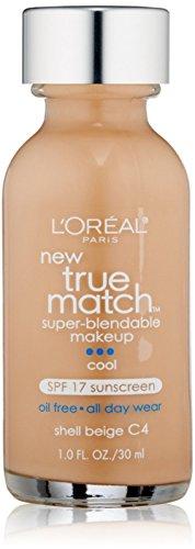 L Oreal True Match Super Blendable Makeup, Shell Beige C4 , 1 oz Pack of 3