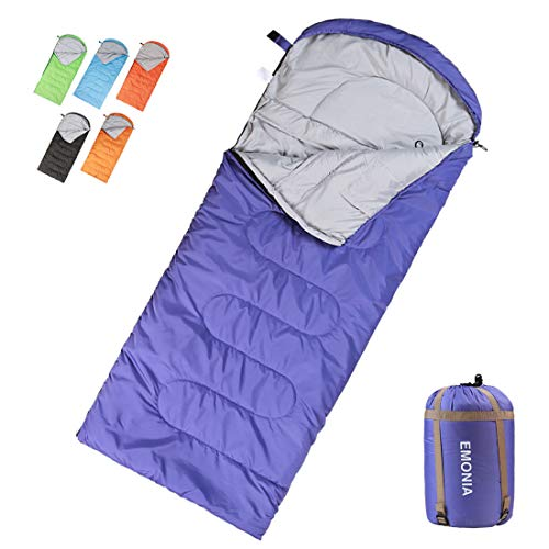 EMONIA Camping Sleeping Bag, 3-4 Season Waterproof Outdoor Hiking Backpacking Sleeping Bag Perfect for Traveling,Lightweight Portable Envelope Sleeping Bags for Adults, Girls and Boys