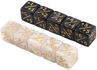 10x Dice Counters for Magic The Gathering Table Game Funny Dices Black