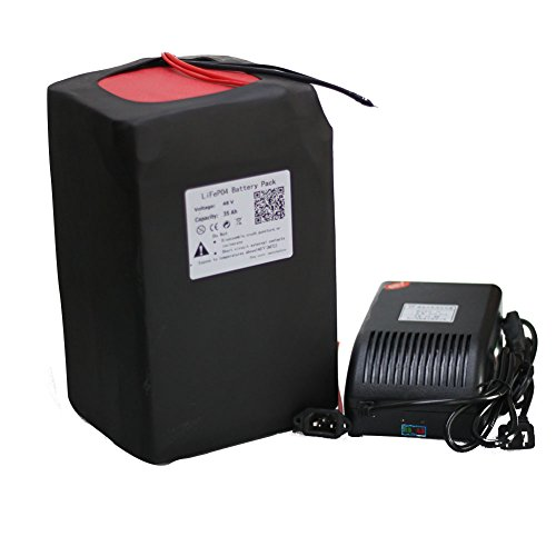 48V 30AH LiFePO4 Battery Pack for Motorcycle Electric Bicycle Scooter + Charger by btrbattery