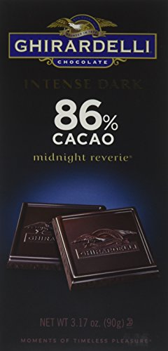 - Ghirardelli Intense Dark 86% Cacao Midnight Reverie Chocolate Bar, 3.17 Ounce (Pack of 12)