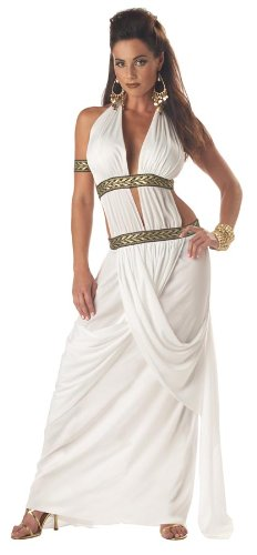 California Costumes Women's Spartan Queen,White,Medium Costume