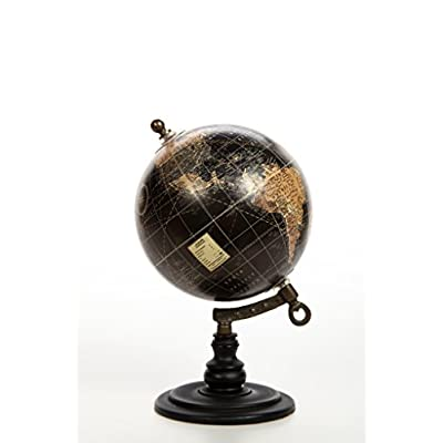 Hosley 10 Inch High Globe on Wooden Stand. A Great Gift for Father's Day for Your Home Birthdays Holidays and Special Events. O9: Kitchen & Dining