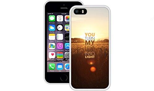 You Turn My Darkness in Licht   Christlich   Handgefertigt   iPhone 5 5s SE   Weiß TPU Hülle