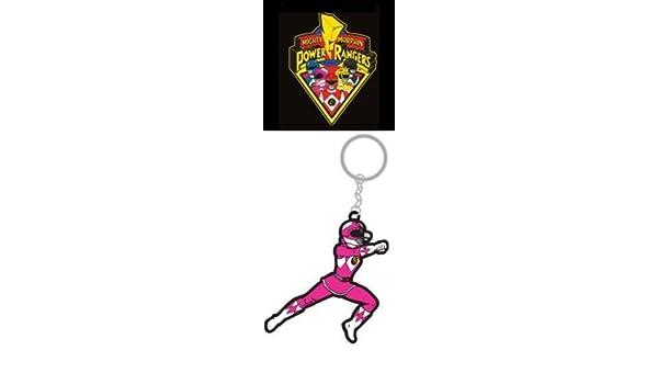 Mighty Morphin Power Rangers Rubber Ranger Rosa Llavero ...