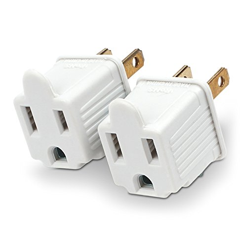 2 Prong Outlet (CyberPower MP1043WW Grounding Adapter 2-Pack)