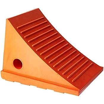 60-7208 8 Height x 11 Width x 8 Length 8 Height x 11 Width x 8 Length Ideal Warehouse Innovations Inc 811-11 Orange Urethane Wheel Chock