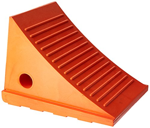 Roadblock-UC1500-45-Impact-Absorbing-Urethane-Industrial-Wheel-Chock-Orange-45-lbs-11-Length-x-775-Width-x-8-Height