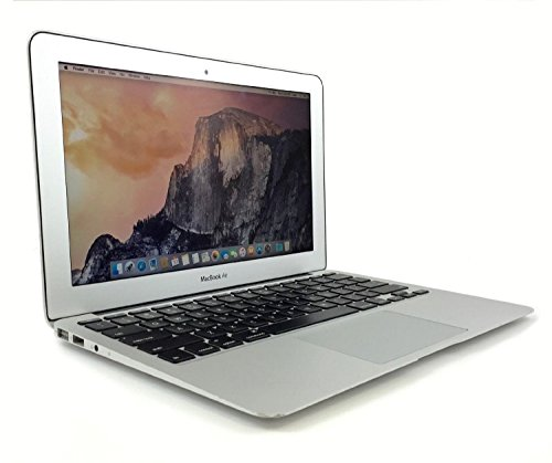 Apple MacBook 11.6-Inch HD+ 1366 x 768 Laptop Air MD711LL/B, Intel Dual-Core Core i5 up to 2.7GHz, 4GB RAM, 128GB SSD, HD camera, 802.11ac WiFi, Bluetooth, USB 3.0, Mac OS X (Certified Refurbished)