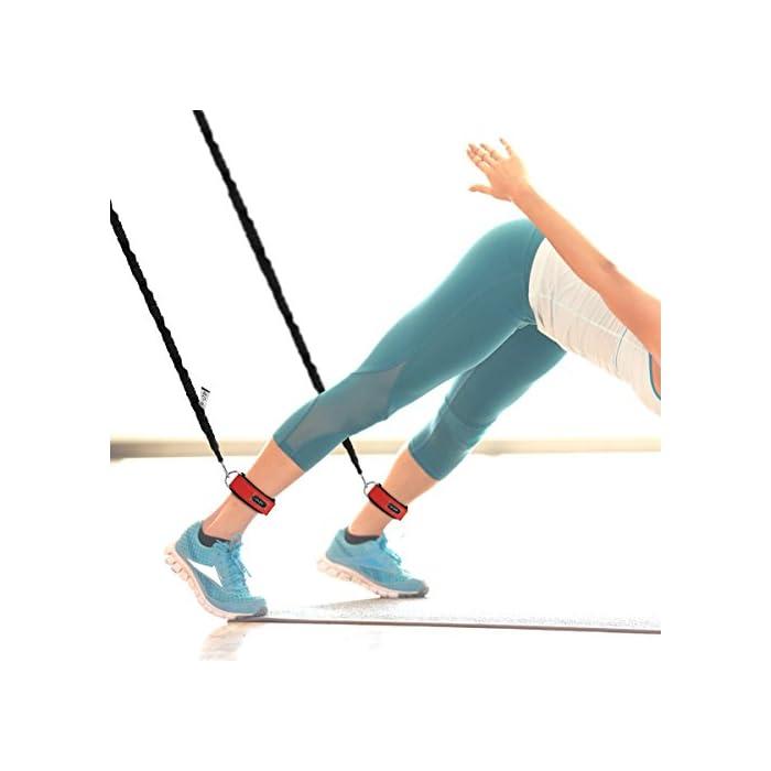 41tEsW7OcIL ✔✔5 Niveles de Resistencia -- Se trata de un set de bandas elásticas de resistencia, las cuerdas están fabricadas en látex natural, de 5 colores y con ganchos en los extremos de metal de alta resistencia. Cada una una tiene una intensidad diferente: Rojo (20 libras), Gris (25 libras), Azul (30 libras), Amarillo (35 libras), Negro (40 libras). ✔✔Accesorio Ideal -- Viene con 5 bandas de diferentes tensiones, 2 ancla para la puerta, 2 correas de tobillo ajustables, 2 asas o empuñaduras de espuma, 1 bolsa de color negro para su transporte o almacenamiento. Puede ser transportado fácilmente para usar en cualquier lugar y en cualquier momento. Un kit muy completo y económico. ✔✔Fácil de Usar & Más Seguro -- Se hace ejercicio seguro y cómodo. Son fáciles de manejar, pudiéndolo enganchar en cualquier puerta, armario, columna, etc. Son fantasticas para tonificar los músculos, reducir grasa, ejercicio de mantenimiento, y realizar otro tipo de ejercicios, destinado a trapecio, hombros o dorsales. Por favor click este link: https://youtu.be/Z8crojsKfJ4, este video para decirle cómo usar este conjunto de cuerdas elásticas para realizar los ejercicios. Set de cuerdas elásticas para fitness
