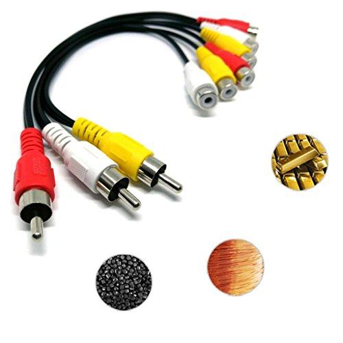 Magideal 3 Rca Cinch Stecker Auf 6 Rca Cinch Buchse Stecker Splitter Audio Video Av Adapter Kabel 12 Zoll Amazon De Gewerbe Industrie Wissenschaft