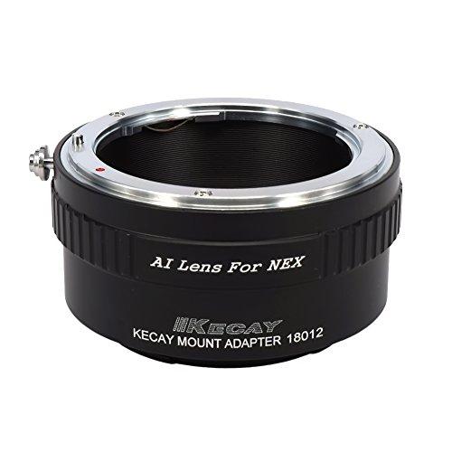 KECAY Ai To NEX Lens Mount Adapter for Nikon Ai Lens To Sony NEX E Mount Camera NEX-3 NEX-5 NEX-5C NEX-5N NEX-5R NEX-6 NEX-7 NEX-VG10