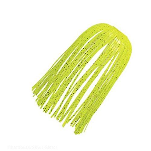 Z-MAN Chatter Bait Ez Skirt, One Size, Chartreuse/Silver Glitter