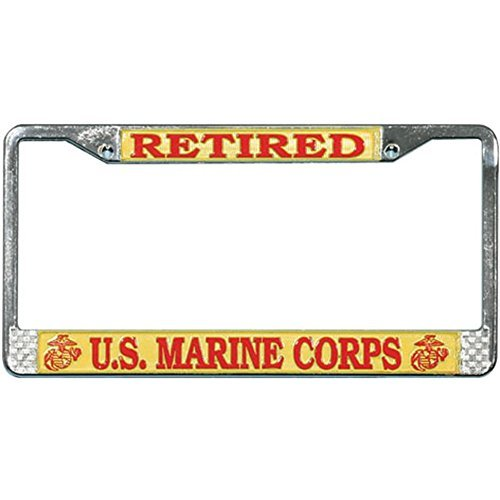 (Honor Country US Marine Corps Retired License Plate Frame )