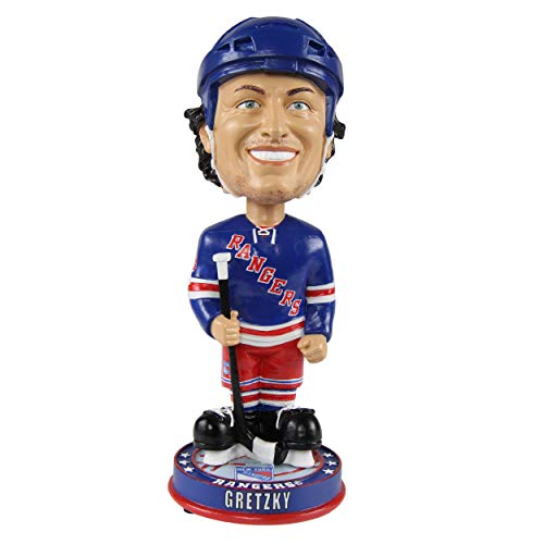 FOCO Wayne Gretzky New York Rangers Knucklehead Big Head Bobblehead ()