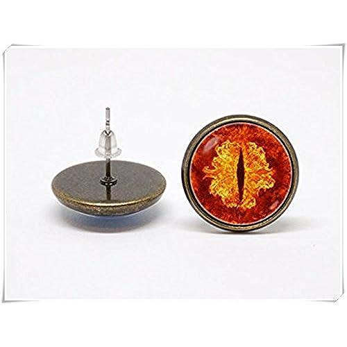 04c6dc4f4c3e En venta Bizarre pendientes joya de fantasía naranja ojos Monstruo  pendientes
